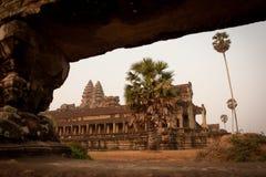 Ruïnes van de tempels, Angkor, Kambodja Stock Fotografie