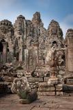 Ruïnes van de tempels, Angkor, Kambodja Stock Foto