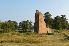 Ruïnes van de vesting Bomarsund (1832-1854) Stock Afbeelding