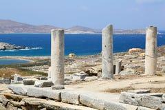 Ruïnes van Delos Stock Fotografie