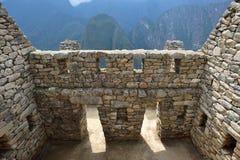 Ruïnes van dorp machu-Picchu Royalty-vrije Stock Afbeeldingen