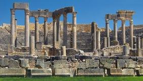Ruïnes van Dougga Stock Afbeeldingen