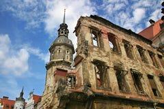 Ruïnes van Dresden, Duitsland. Royalty-vrije Stock Foto's