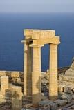Ruïnes van een antieke Akropolis stock afbeeldingen