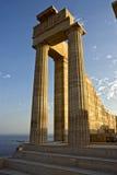 Ruïnes van een antieke Akropolis royalty-vrije stock foto's