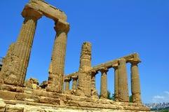 Ruïnes van een Griekse tempel Stock Foto