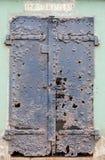 Ruïnes van een ijzerdeur bij Batterij Mendell, Fort Barry, Marin Headlands, Californië, de V.S. royalty-vrije stock fotografie