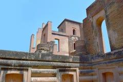 Ruïnes van een middeleeuws herenhuis stock foto