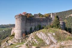 Ruïnes van een middeleeuws kasteel Royalty-vrije Stock Fotografie