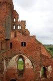 Ruïnes van een middeleeuws kasteel Stock Foto