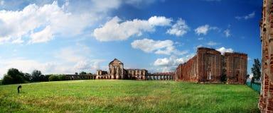 Ruïnes van een oud Europees landgoed Stock Foto