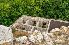 Ruïnes van een oud kasteel Royalty-vrije Stock Foto