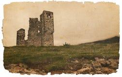 Ruïnes van een oud kasteel Royalty-vrije Stock Afbeeldingen