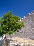 Ruïnes van een oud kasteel in Griekenland Royalty-vrije Stock Fotografie