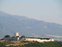 Ruïnes van een oud kasteel in Griekenland Stock Foto