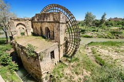 Ruïnes van een oude Arabische molen in Cordoba, Andalusia, Spanje Royalty-vrije Stock Fotografie