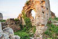 Ruïnes van een oude bouw stock fotografie