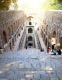Ruïnes van een oude goed Agrasen ki Baoli, naar verluidt 12de eeuw India delhi royalty-vrije stock foto's