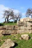Ruïnes van een oude muur, Syrië Stock Fotografie
