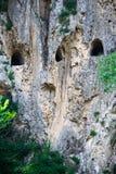 Ruïnes van een oude Roman galerij in Italië stock foto's