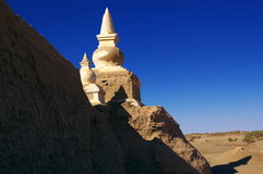 Ruïnes van een oude stad in de woestijn Royalty-vrije Stock Afbeelding