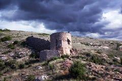Ruïnes van een oude vesting Stock Foto