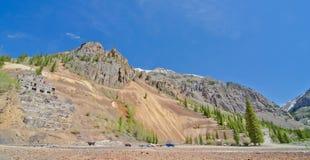 Ruïnes van een Zilveren Mijn in Silverton, in San Juan Mountains in Colorado Royalty-vrije Stock Foto's