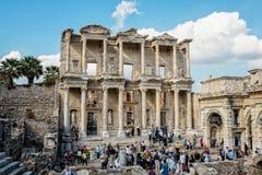 Ruïnes van Ephesus Stock Afbeeldingen