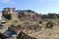 Ruïnes van Foro-Di Nerva in Rome, Italië Stock Afbeelding