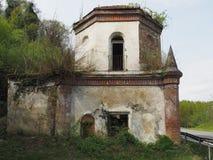 Ruïnes van gotische kapel in Chivasso, Italië Royalty-vrije Stock Foto's