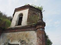 Ruïnes van gotische kapel in Chivasso, Italië Stock Afbeelding