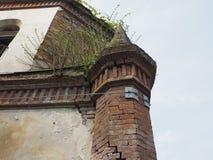 Ruïnes van gotische kapel in Chivasso, Italië Stock Foto's