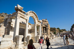 Ruïnes van Griekse stad Ephesus Royalty-vrije Stock Foto's