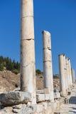 Ruïnes van Griekse stad Ephesus Stock Foto's