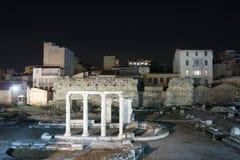 Ruïnes van Hadrian-bibliotheek in Athene Royalty-vrije Stock Afbeeldingen