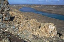 Ruïnes van Halabiye op Eufraat Stock Afbeelding