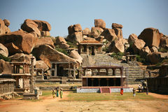 Ruïnes van Hampi, India Royalty-vrije Stock Foto's