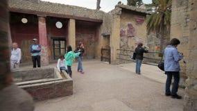 Ruïnes van Herculaneum, Italië stock footage