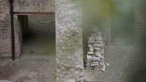 Ruïnes van Herculaneum, Italië stock videobeelden