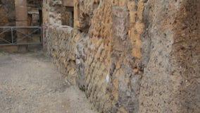 Ruïnes van Herculaneum, Italië stock video