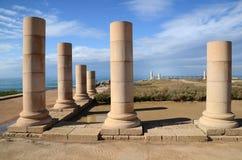 Ruïnes van Herods het Grote paleis stock foto's