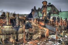 Ruïnes van het Arsenaal van de Stad van Quebec Stock Afbeelding