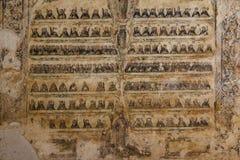 Ruïnes van het Cuilapan DE Guerrero klooster stock fotografie