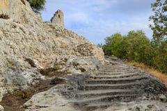 Ruïnes van het Fort DE Buoux Stock Afbeelding