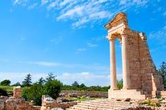 Ruïnes van het Heiligdom van Apollo Hylates Stock Foto