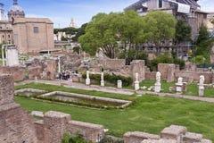 Ruïnes van het Huis van Vestals stock fotografie