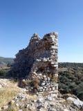 Ruïnes van het kasteel Bechin Milas Turkije Royalty-vrije Stock Fotografie