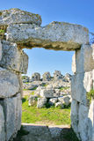 Ruïnes van het kasteel Eurialo in Syracuse - Sicilië Royalty-vrije Stock Afbeelding