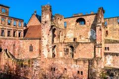 Ruïnes van het Kasteel van Heidelberg in staat baden-Wurttemberg van Duitsland royalty-vrije stock afbeelding