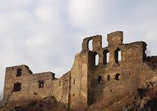 Ruïnes van het kasteel Okor Stock Foto